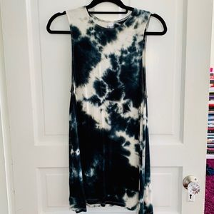 American Apparel Navy Blue Tie Dye Olivia Dress